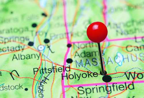 Pinned Holyoke MA map where we offer paternity testing